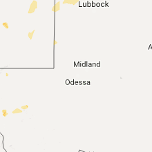 Regional Hail Map for Odessa, TX - Saturday, July 1, 2017