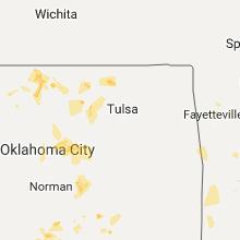 Regional Hail Map for Tulsa, OK - Sunday, July 2, 2017