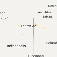 Regional Hail Map for Fort Wayne, IN - Monday, July 3, 2017