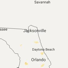 Regional Hail Map for Jacksonville, FL - Monday, July 3, 2017