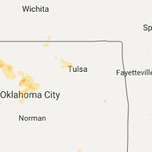 Regional Hail Map for Tulsa, OK - Monday, July 3, 2017