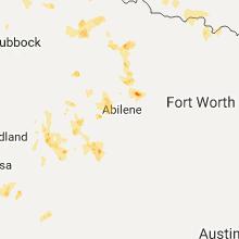 Regional Hail Map for Abilene, TX - Tuesday, July 4, 2017