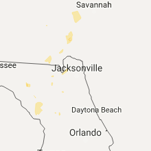 Regional Hail Map for Jacksonville, FL - Wednesday, July 5, 2017