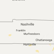 Regional Hail Map for Nashville, TN - Thursday, July 6, 2017