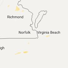 Regional Hail Map for Virginia Beach, VA - Thursday, July 6, 2017