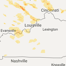 Regional Hail Map for Louisville, KY - Friday, July 7, 2017