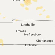 Regional Hail Map for Nashville, TN - Friday, July 7, 2017