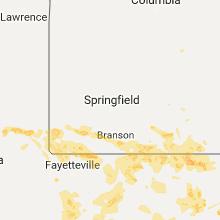 Regional Hail Map for Springfield, MO - Friday, July 7, 2017