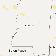 Regional Hail Map for Jackson, MS - Saturday, July 8, 2017