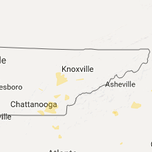Regional Hail Map for Knoxville, TN - Saturday, July 8, 2017