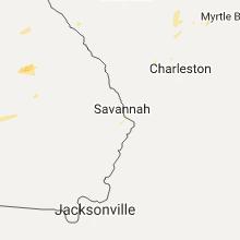 Regional Hail Map for Savannah, GA - Saturday, July 8, 2017