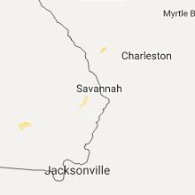 Regional Hail Map for Savannah, GA - Sunday, July 9, 2017