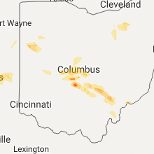 Regional Hail Map for Columbus, OH - Monday, July 10, 2017