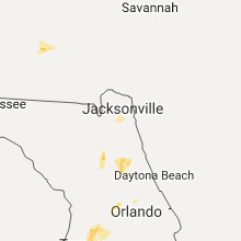 Regional Hail Map for Jacksonville, FL - Monday, July 10, 2017