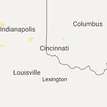 Regional Hail Map for Cincinnati, OH - Tuesday, July 11, 2017