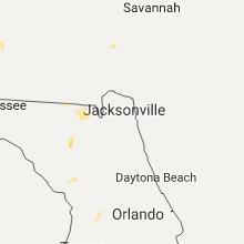 Regional Hail Map for Jacksonville, FL - Tuesday, July 11, 2017