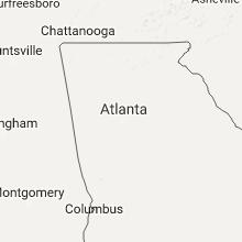 Regional Hail Map for Atlanta, GA - Wednesday, July 12, 2017