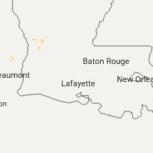 Regional Hail Map for Lafayette, LA - Wednesday, July 12, 2017