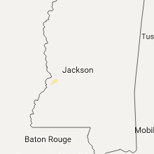 Regional Hail Map for Jackson, MS - Thursday, July 13, 2017