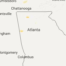 Regional Hail Map for Atlanta, GA - Friday, July 14, 2017