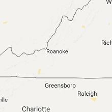 Regional Hail Map for Roanoke, VA - Friday, July 14, 2017