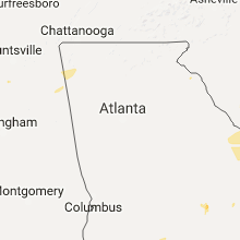 Regional Hail Map for Atlanta, GA - Saturday, July 15, 2017