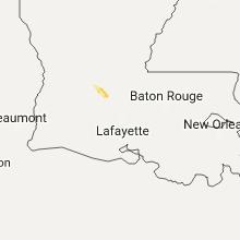 Regional Hail Map for Lafayette, LA - Saturday, July 15, 2017