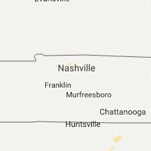 Regional Hail Map for Nashville, TN - Saturday, July 15, 2017