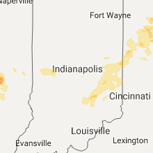 Regional Hail Map for Indianapolis, IN - Sunday, July 16, 2017