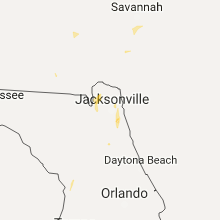 Regional Hail Map for Jacksonville, FL - Sunday, July 16, 2017