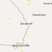 Regional Hail Map for Savannah, GA - Sunday, July 16, 2017