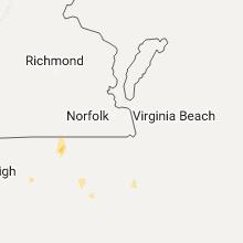 Regional Hail Map for Virginia Beach, VA - Sunday, July 16, 2017