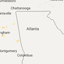 Regional Hail Map for Atlanta, GA - Monday, July 17, 2017