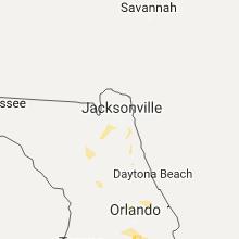 Regional Hail Map for Jacksonville, FL - Monday, July 17, 2017