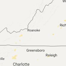 Regional Hail Map for Roanoke, VA - Monday, July 17, 2017