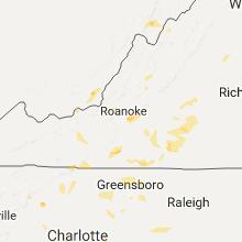 Regional Hail Map for Roanoke, VA - Tuesday, July 18, 2017