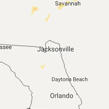 Regional Hail Map for Jacksonville, FL - Wednesday, July 19, 2017