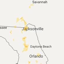 Regional Hail Map for Jacksonville, FL - Thursday, July 20, 2017