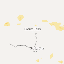 Regional Hail Map for Sioux Falls, SD - Thursday, July 20, 2017