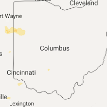 Regional Hail Map for Columbus, OH - Friday, July 21, 2017
