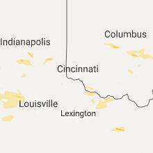 Regional Hail Map for Cincinnati, OH - Saturday, July 22, 2017