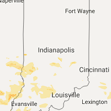 Regional Hail Map for Indianapolis, IN - Saturday, July 22, 2017