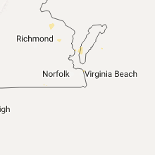 Regional Hail Map for Virginia Beach, VA - Saturday, July 22, 2017