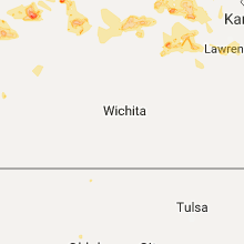 Hail Map for wichita-ks 2017-07-22