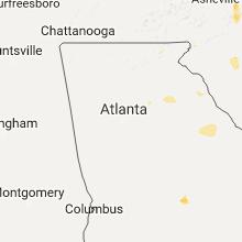 Regional Hail Map for Atlanta, GA - Sunday, July 23, 2017