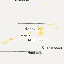 Regional Hail Map for Nashville, TN - Sunday, July 23, 2017
