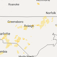 Hail Map for raleigh-nc 2017-07-23