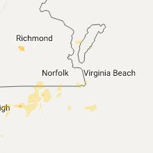 Regional Hail Map for Virginia Beach, VA - Sunday, July 23, 2017