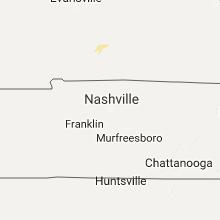 Regional Hail Map for Nashville, TN - Monday, July 24, 2017