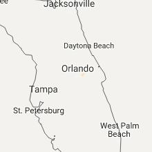 Regional Hail Map for Orlando, FL - Monday, July 24, 2017